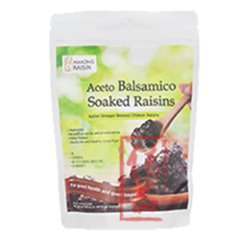 Aceto Balsamico Soaked Raisins With Seeds